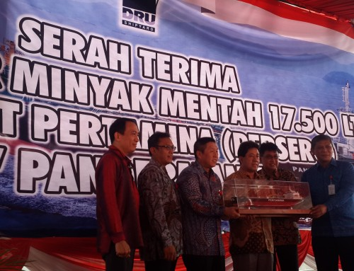 DRU Handed Over Tanker Crude Oil 17,500 LTDW Panderman to Pertamina